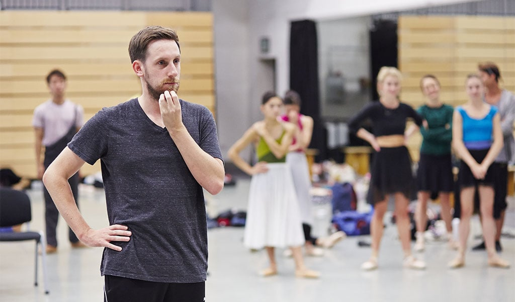 Jonathan Watkins in rehearsal for 1984. Photo Justin Slee (2)