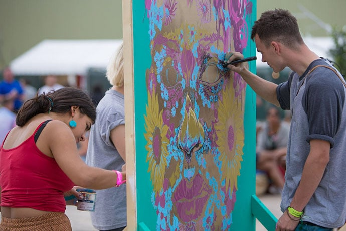 Street art courtesy of Mad Ferret Productions, at The Garden Party at The Tetley, Leeds, 29th August 2015