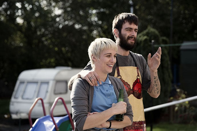 Vicky McClure as Lol and Joe Gilgun as Woody
