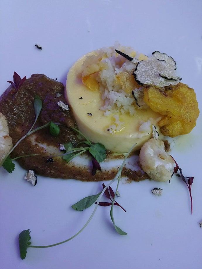 Inox Dine truffle starter