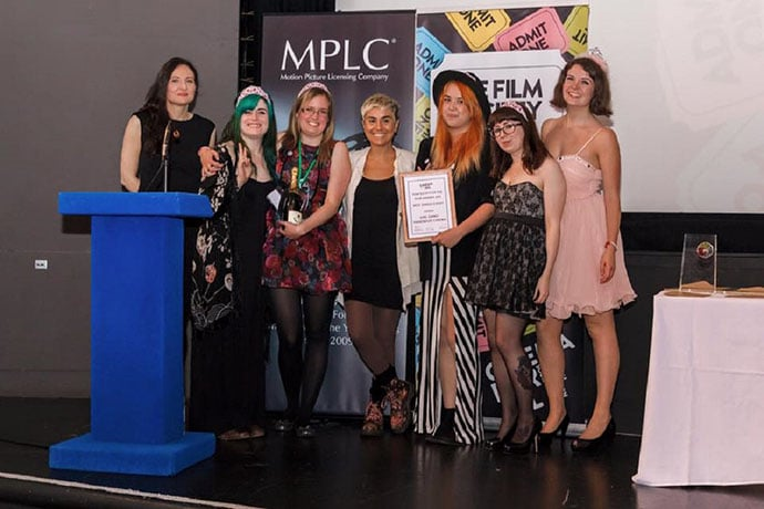 Girl Gang Sheffield win Best Single Event at the Cinema For All Film Society of the Year Awards. Credit: Jules Lister and Cinema For All.