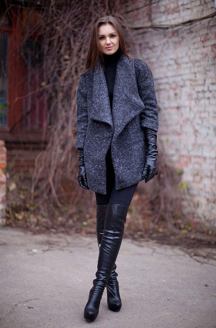 Winter coat high boot