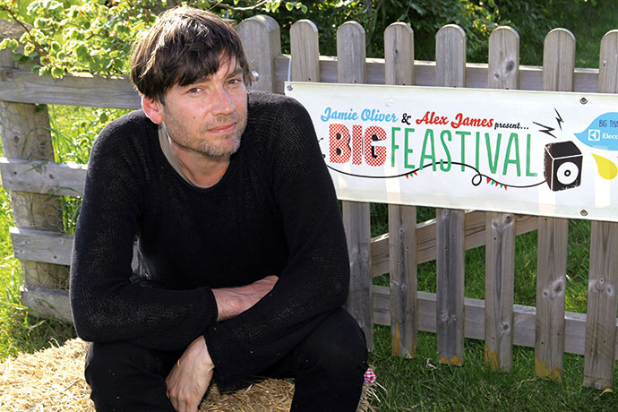 Alex James at the launch of the Big Feastival at his farm in Kingham Picture Sales Ref: submitted Picture: Ric Mellis 6/6/13 Kingham catchline: feastival launch Requested: submitted Length: submitted