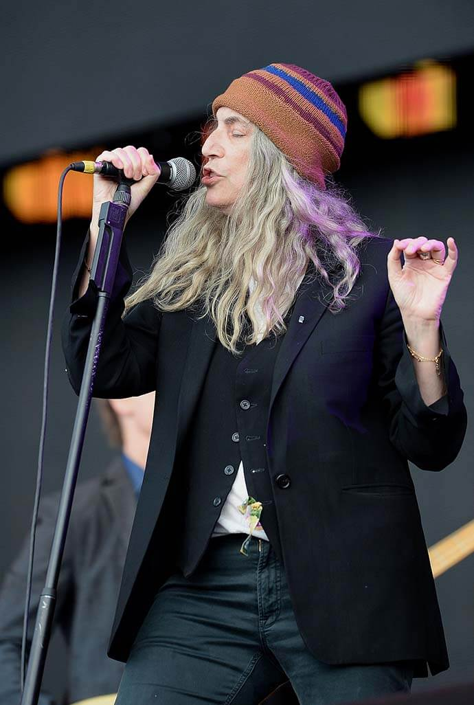 LONDON, ENGLAND - JULY 01:  Patti Smith performs on stage at the Barclaycard Presents British Summer Time Festival in Hyde Park on July 1, 2016 in London, England.  (Photo by Dave J Hogan/Dave Hogan/Getty Images ) *** Local Caption *** Patti Smith