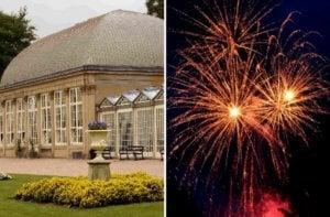 illuminate the gardens - botanical gardens - sheffield - fireworks