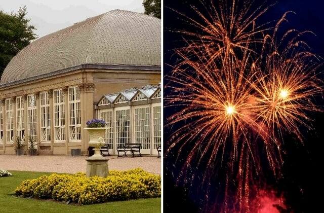 illuminate the gardens - botanical gardens - sheffield - fireworks