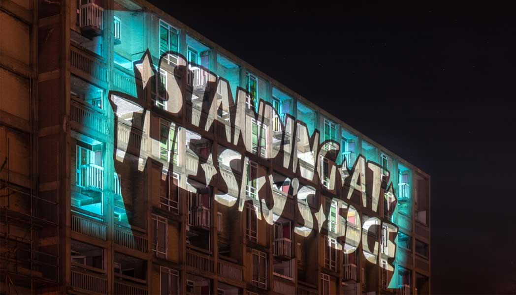 Kid Acne To Light Up Park Hill With Standing At The Sky S Edge Installation Exposed Magazine