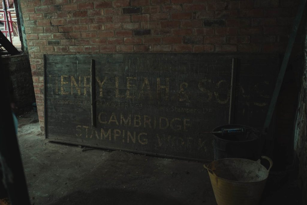 Sign in Leah's Yard building Sheffield