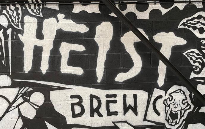 Graffiti on Heist Bar's wall