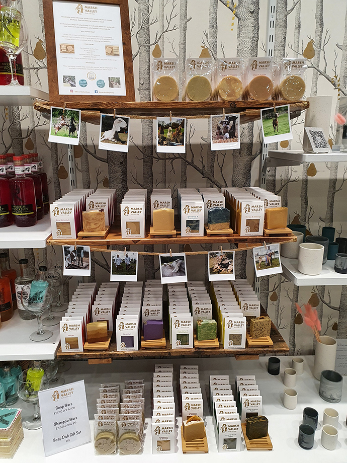 Products for sale in the Independent Sheffield Store in Meadowhall