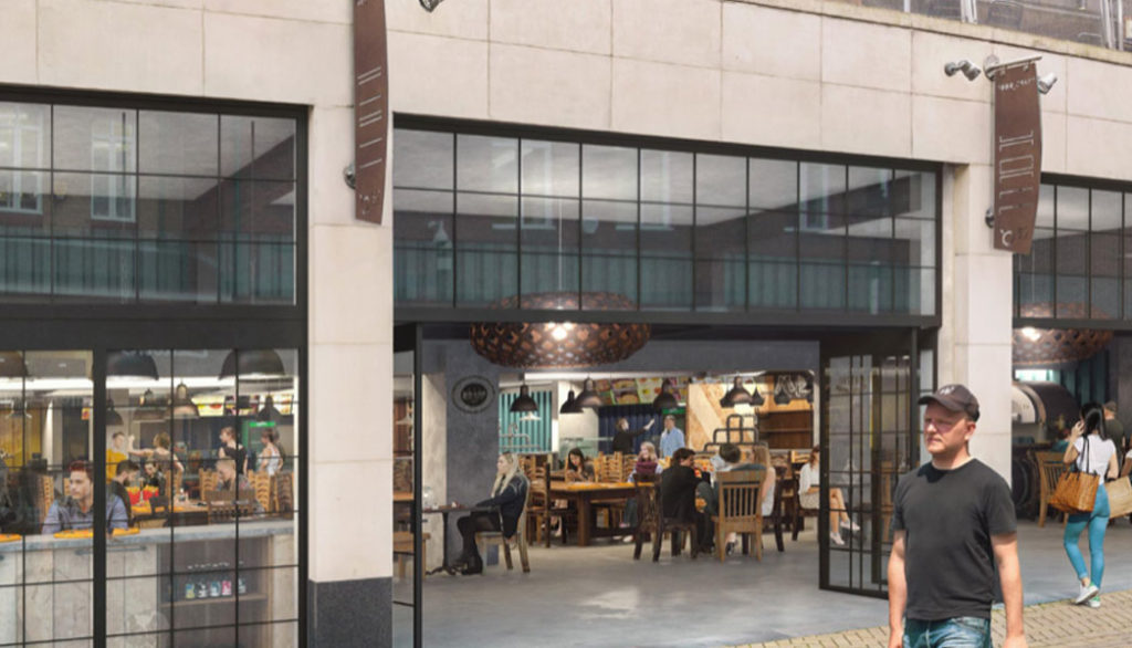 Sheffield Plate: Artist impression of new food hall in Orchard Square