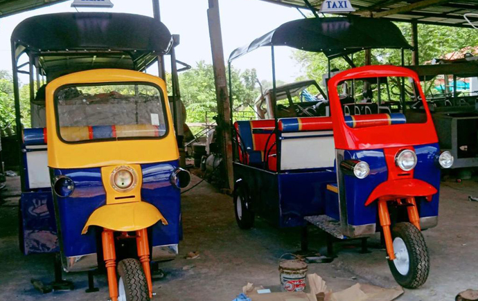 Tuk tuk's in Thailand