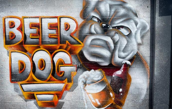 Graffitti by Trik 9 on Beer Dog