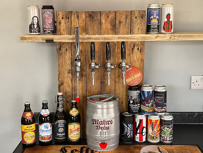 A selection of beer in Beer Dog