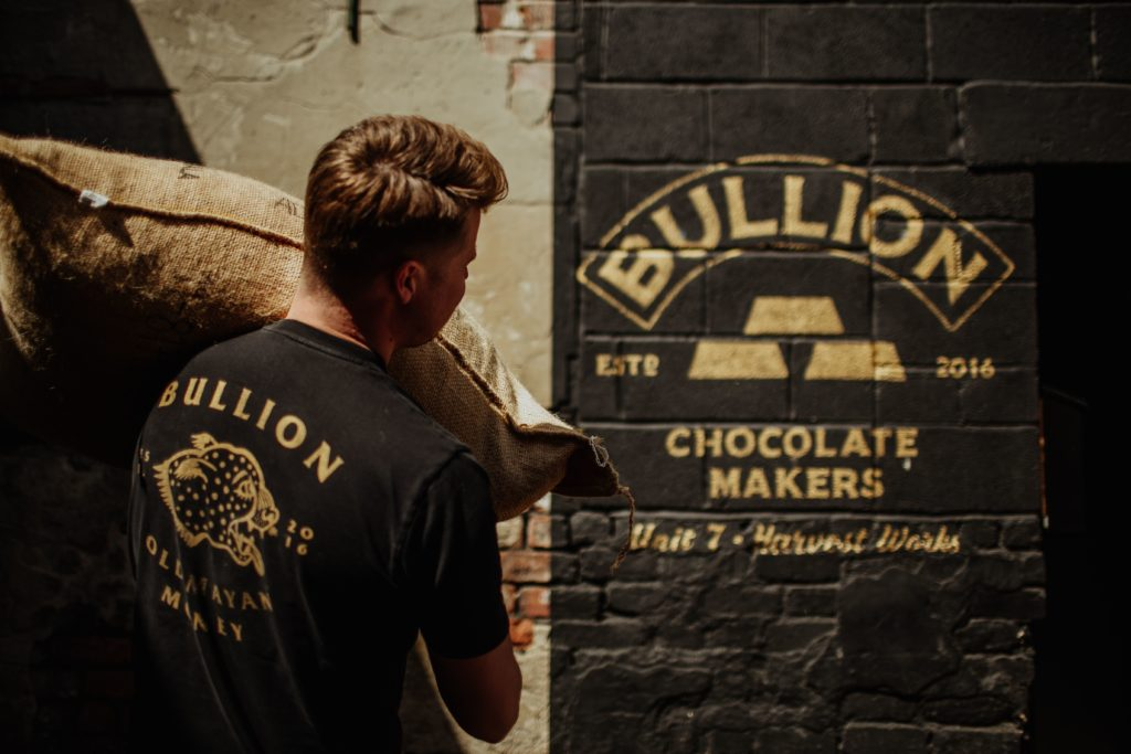 Owner Max Scotford at the Bullion factory