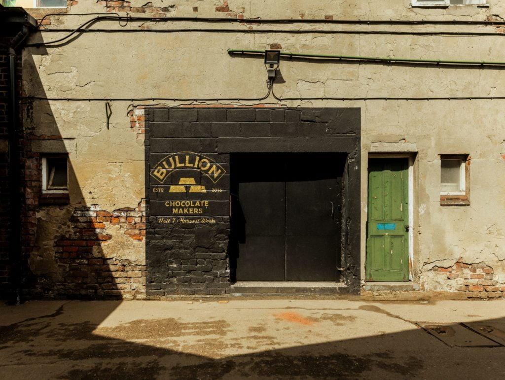 Outside the Bullion chocolate factory